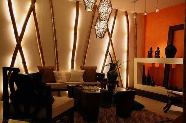 Decorative Bamboo Poles Home Decor Ideas Contemporary Living Room Ideas