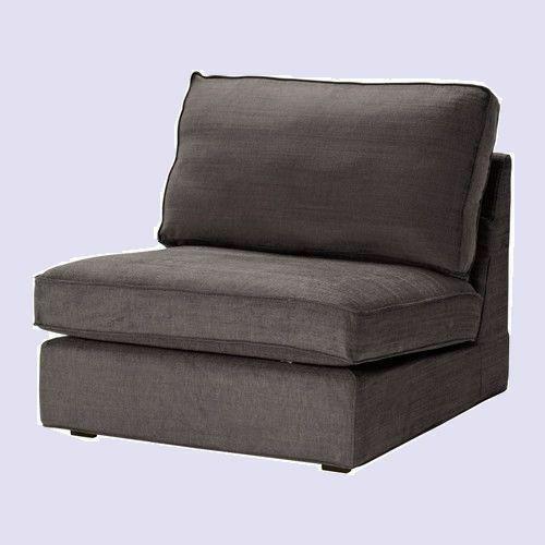 Ikea Kivik 1 One Seat Sofa Chair Cover Tullinge Gray 2nd Ships W
