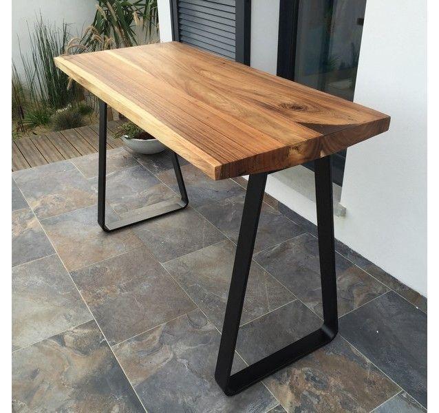 mange debout avec plateau pais en bois massif et. Black Bedroom Furniture Sets. Home Design Ideas