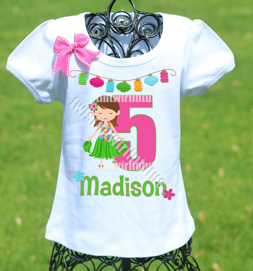 9675897a Hawaiian Luau Birthday Shirt | Girls Birthday Shirts | Daniel tiger ...