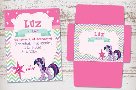 Invitaciones My Little Pony Twilight Sparkle Imprimibles
