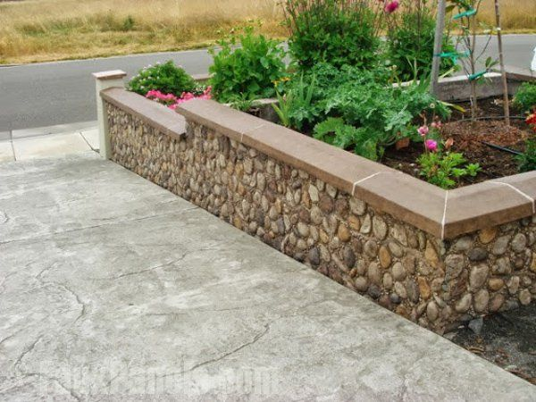 Landscape Retaining Walls Ideas with Faux Stone Brick
