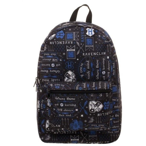 63633e96b9b2 Harry Potter Icon Print Ravenclaw Backpack ( 40) ❤ liked on Polyvore  featuring bags