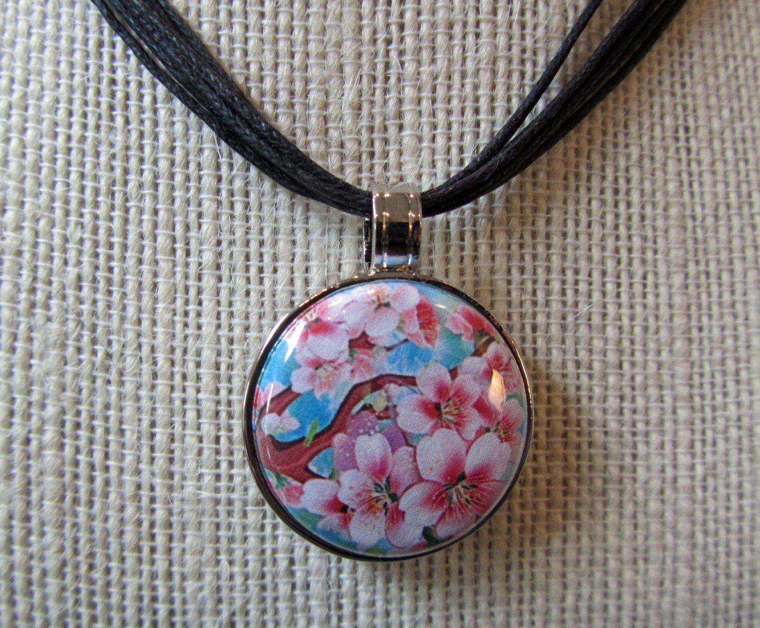Necklace with interchangeable magnetic pendants cherry blossoms necklace with interchangeable magnetic pendants cherry blossoms series 1 1800 via etsy aloadofball Images