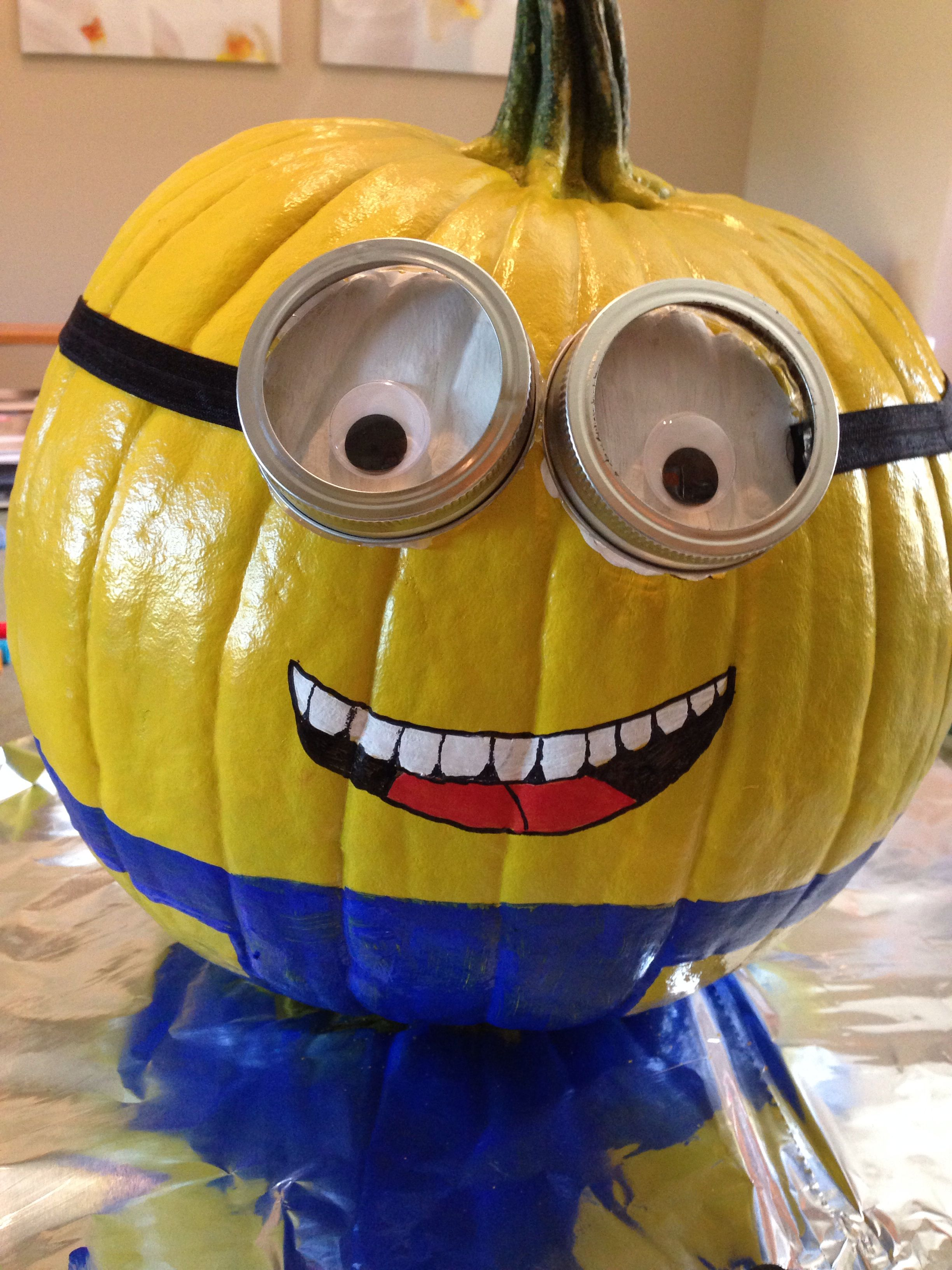 minion pumpkin diy | halloween | pinterest