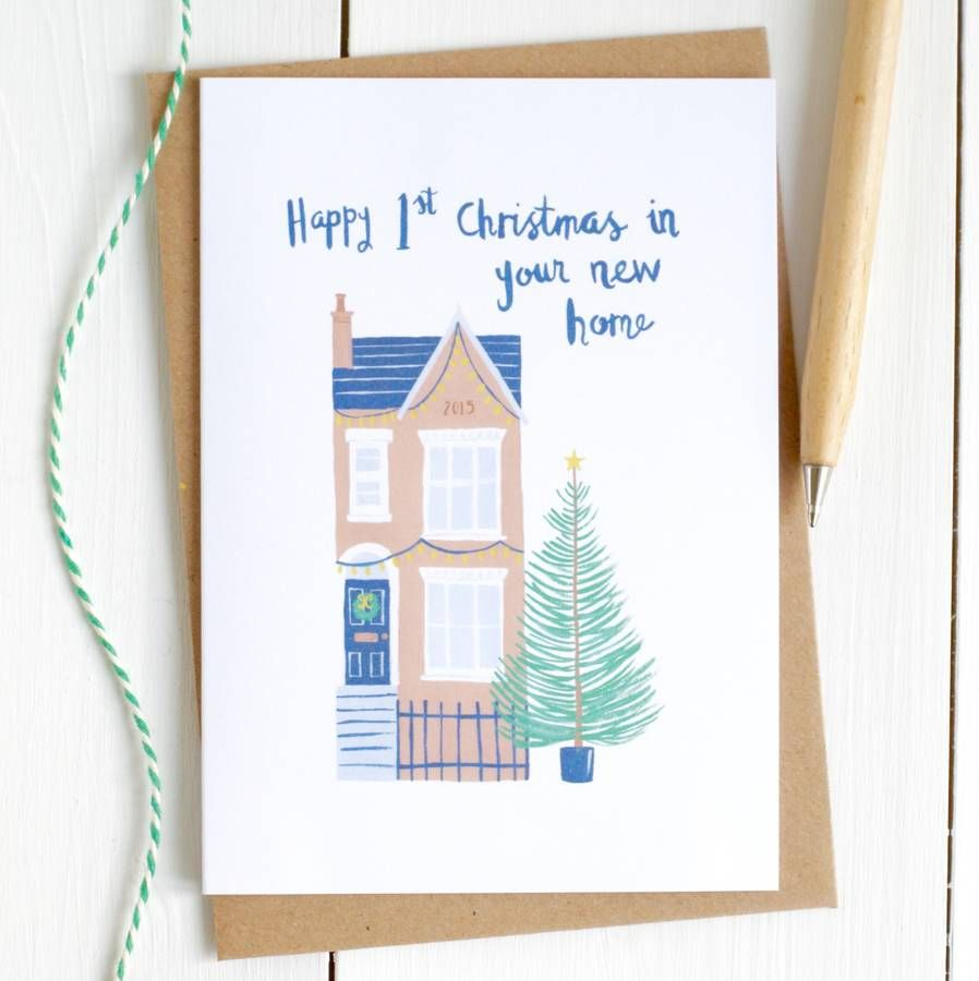 First Christmas In Your New Home Card  Xmas cards to make