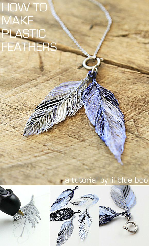 How To Make A Plastic Feather Necklace Lil Blue Boo