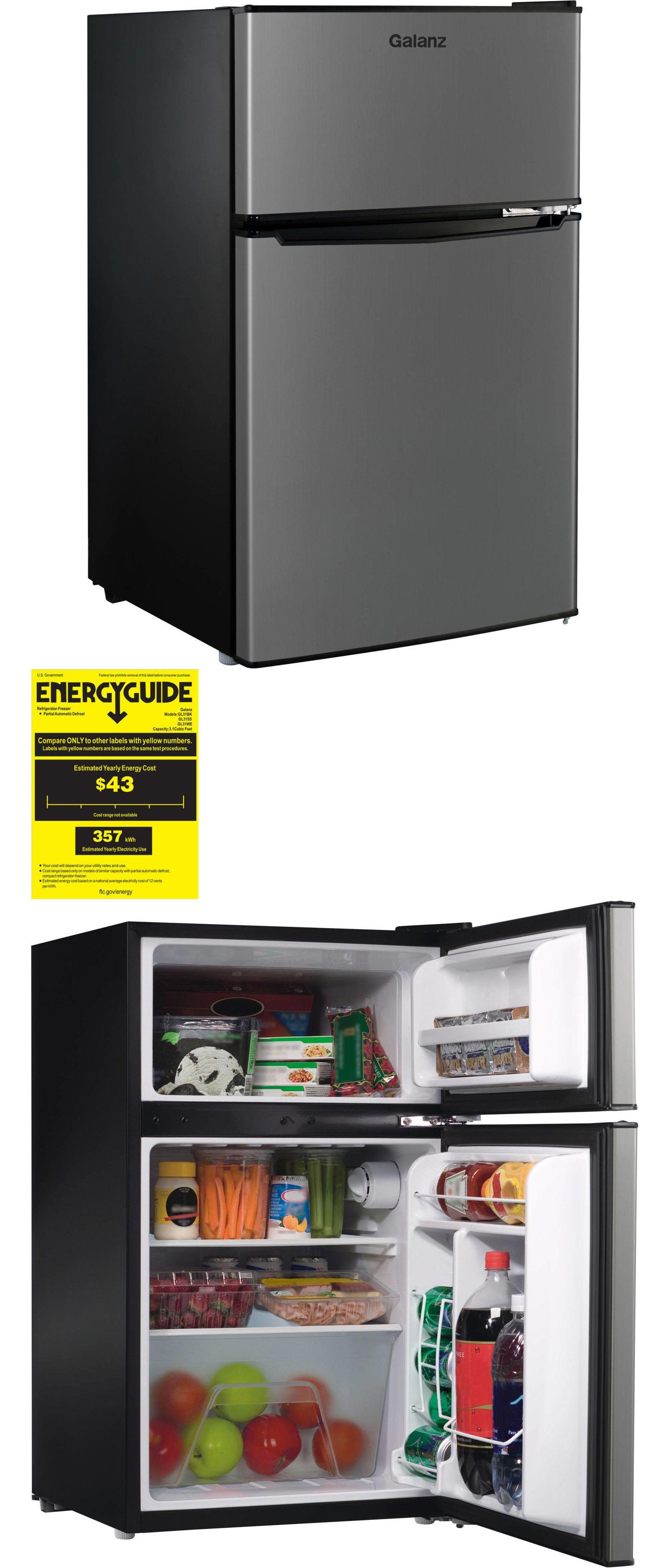 Mini Fridges 71262 Compact Dorm Small Fridge Refrigerator 3 1 Cu Ft Office Double Door