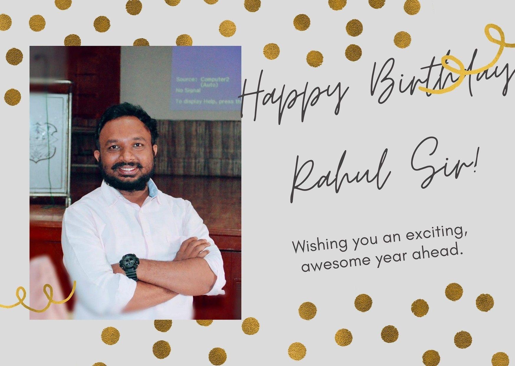 Happy Birthday Rahul Sir Happy Birthday Rahul Very Happy Birthday Cool Animations