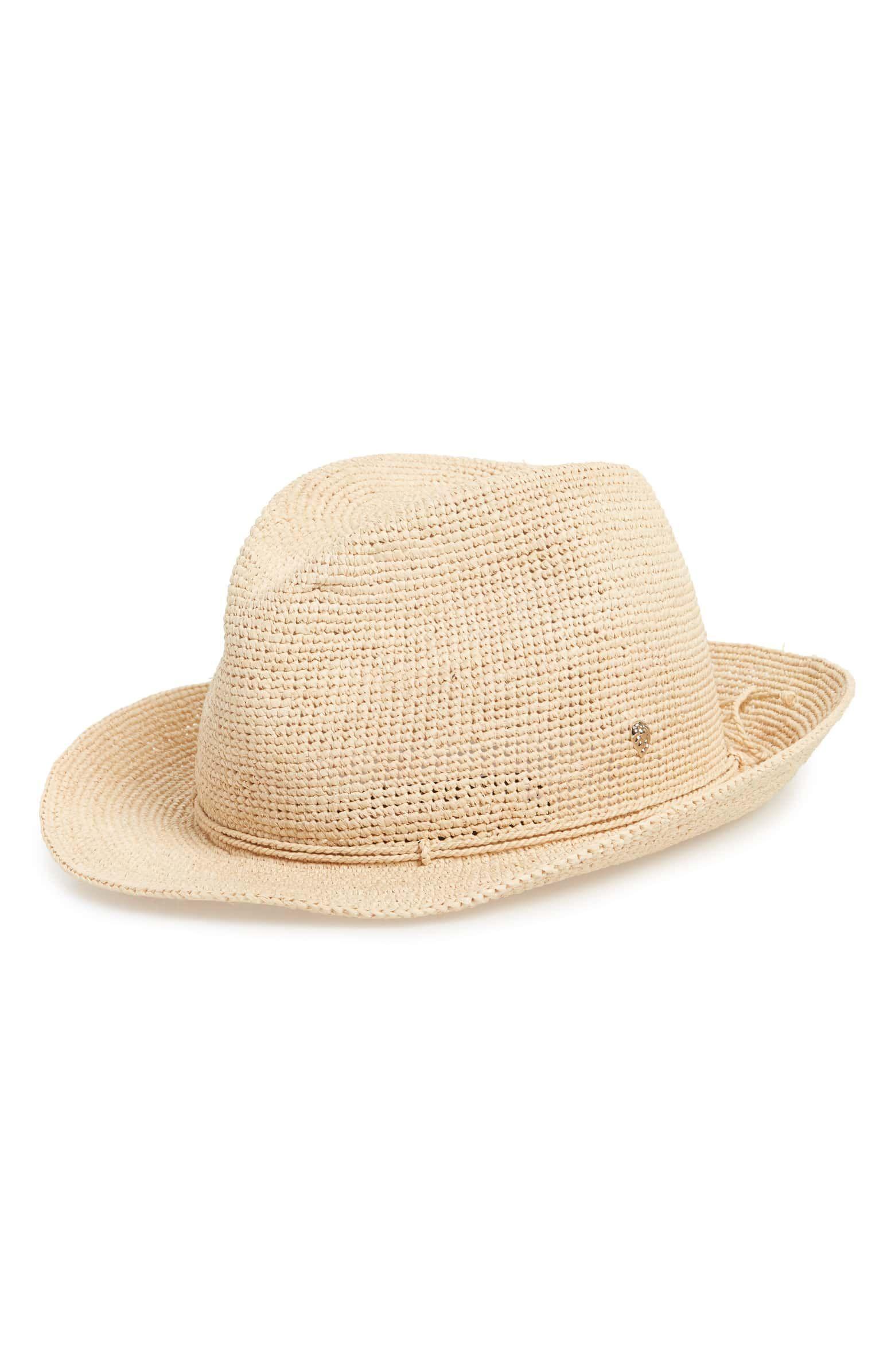 f17806f871e Raffia Crochet Packable Sun Hat