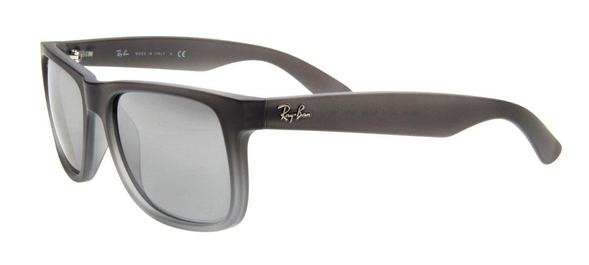 0a0691cb1b422 Óculos Ray-Ban Justin RB4165L 55 - Cinza Fosco Cinza Espelhado - 852 ...