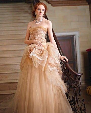 Romantic Blush-Colored Wedding Dress | Wedding | Pinterest | Blush ...