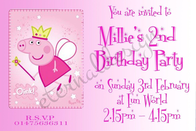 Eternal Design 10 x Personalised Kids birthday party invitations ...