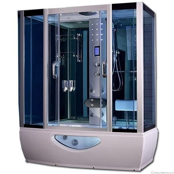 Combination Whirlpool Bath Steam Shower Cabin 1650x800 Shower Cabin Steam Shower Cabin Steam Showers