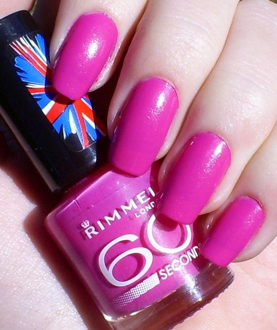 Rimmel 60 Seconds - Pink - A - Boo   my fingernail colors   Rimmel ...