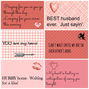 Valentine Love Notes For Your Husband or Love of Your Life  Free