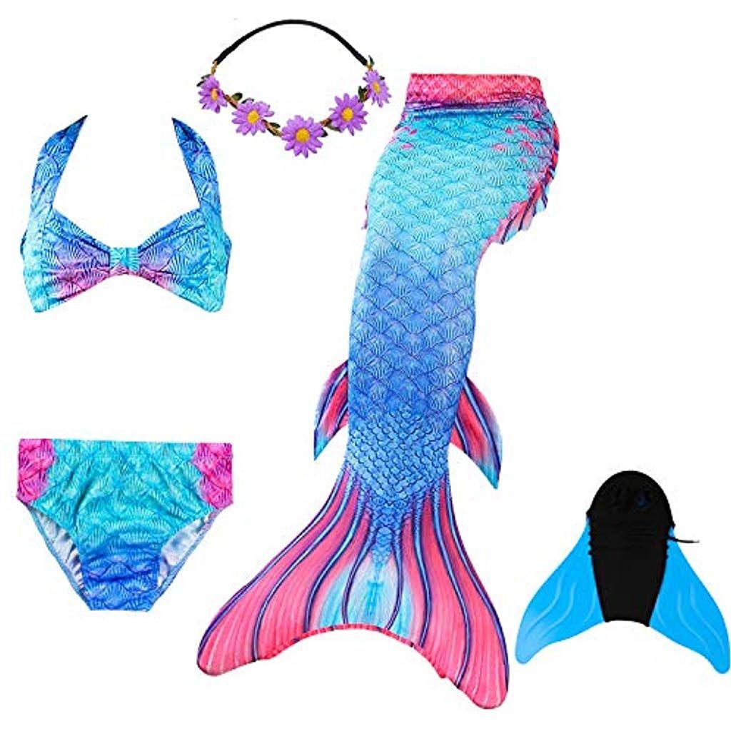 095b9089ba407d COZY HUT Mädchen Meerjungfrauenschwanz Zum Schwimmen mit Meerjungfrau  Flosse 3-12 Jahre #mädchennamen #