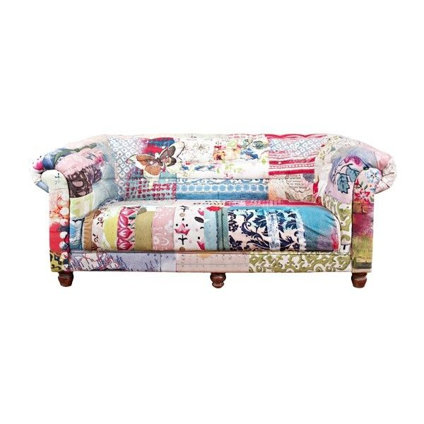 CosyNest Interiors Nurture Daydream Patchwork Canvas Sofa & Reviews | Wayfair Australia