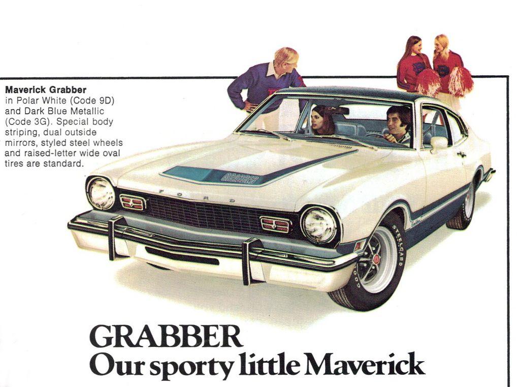1975 Ford Maverick Grabber Coupe Ford Maverick Ford Classic Cars Ford