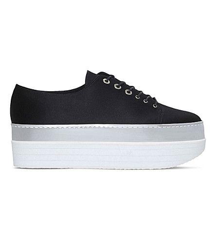 c44d01f2ee7 STUART WEITZMAN Activate Satin Platform Sneakers.  stuartweitzman  shoes   sneakers