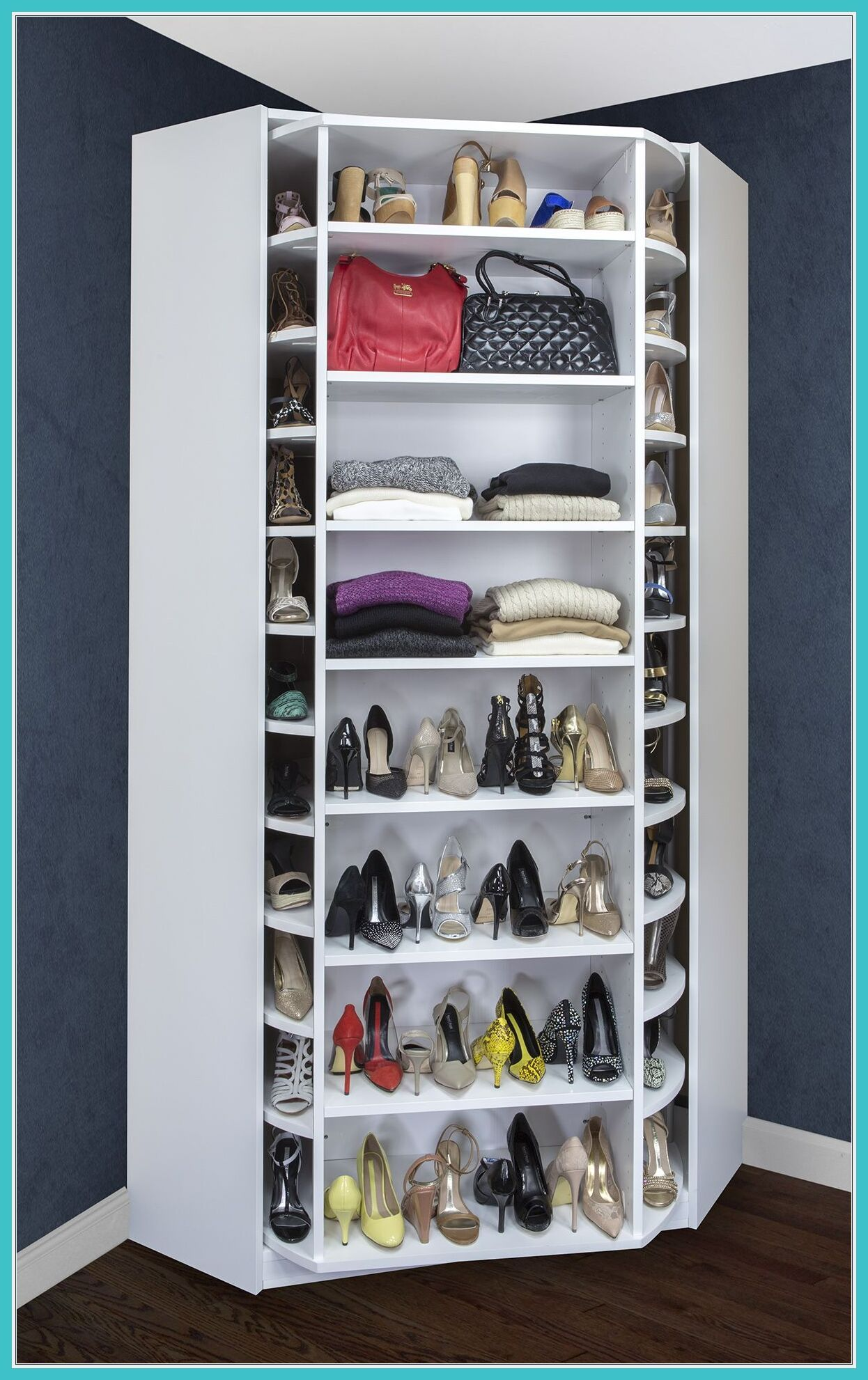 Rotating Shoe Rack Plans In 2020 Diy Clothes Storage Clothes