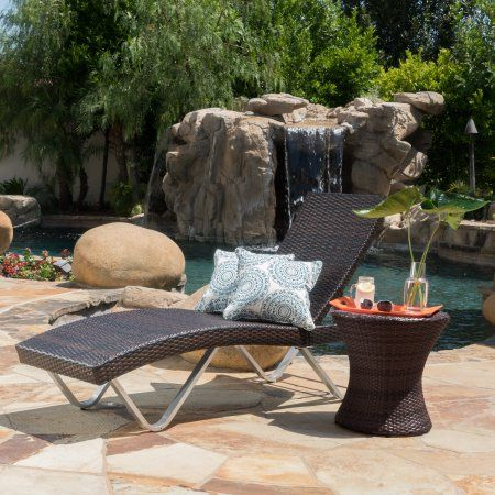 noble house brown outdoor chaise lounge with table multicolor rh pinterest ch