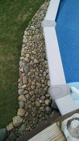 Above Ground Pool Rock Border All Rocks Dug Up By Us From Our