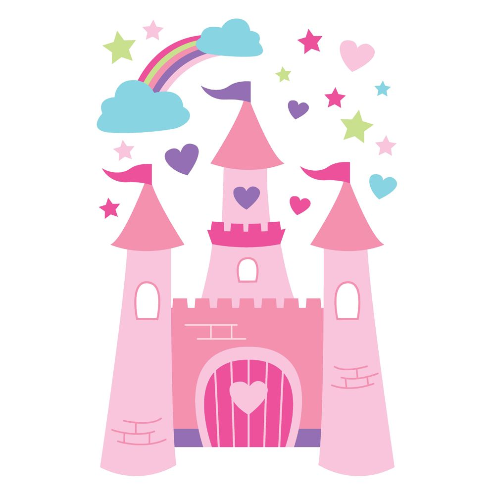 Princess Castle Wall Decal From Speckled House Sheet Measures X Forwalls Removable Vinyl Decals Can Be Lied To Almost Any Surface Painted Walls