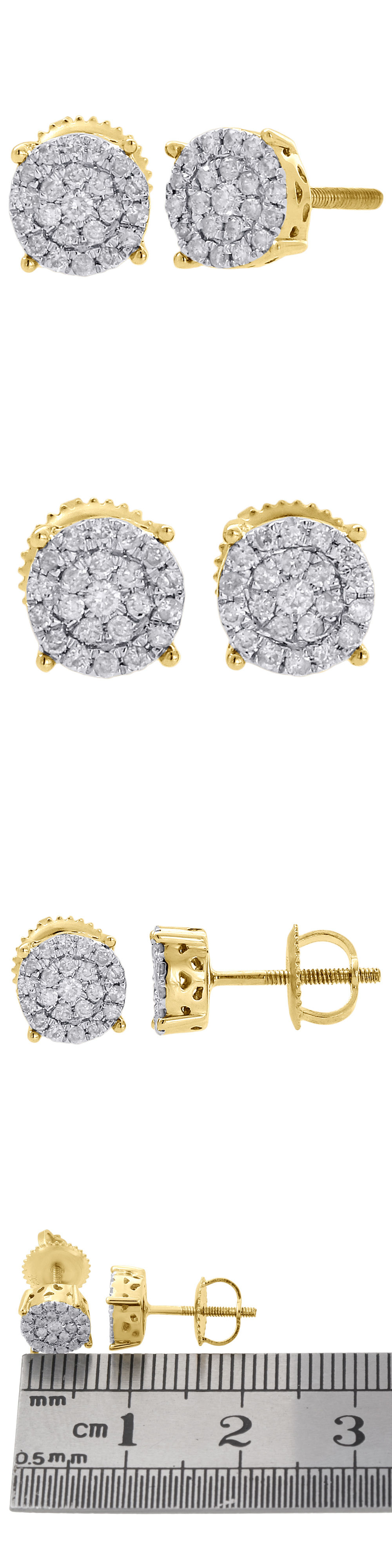 Earrings Studs 2 90Ct 14K White Gold Round Cut Si2 Diamond