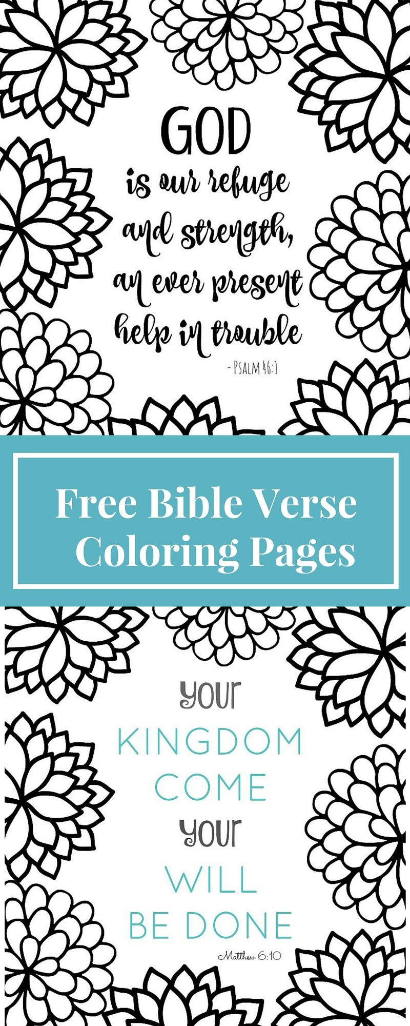 Free printable coloring pages with words - Free Printable Bible Verse Coloring Pages With Bursting Blossoms