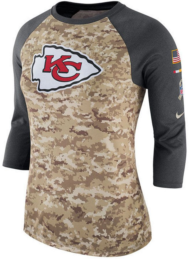 wholesale dealer 73cee 0b68a Nike Women's Kansas City Chiefs Salute To Service Three ...