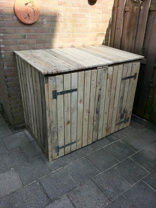 Tutorial Pallet Storage Bin Project Backyard Ideas Yonkers