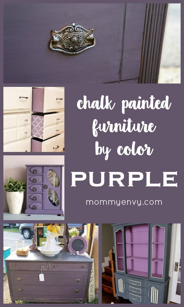 Chalk Painted Furniture By Color Purple Chalk Paint Furniture Muebles Pintura De Muebles Muebles