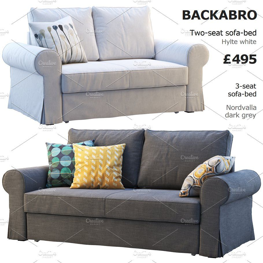 Two Seat Sofas 2 Options 3d Model Ikea Sofa Best Sofa Three