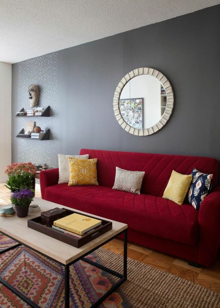 Pin by Roswitha on Wohnzimmer Pinterest - wohnzimmer sofa rot