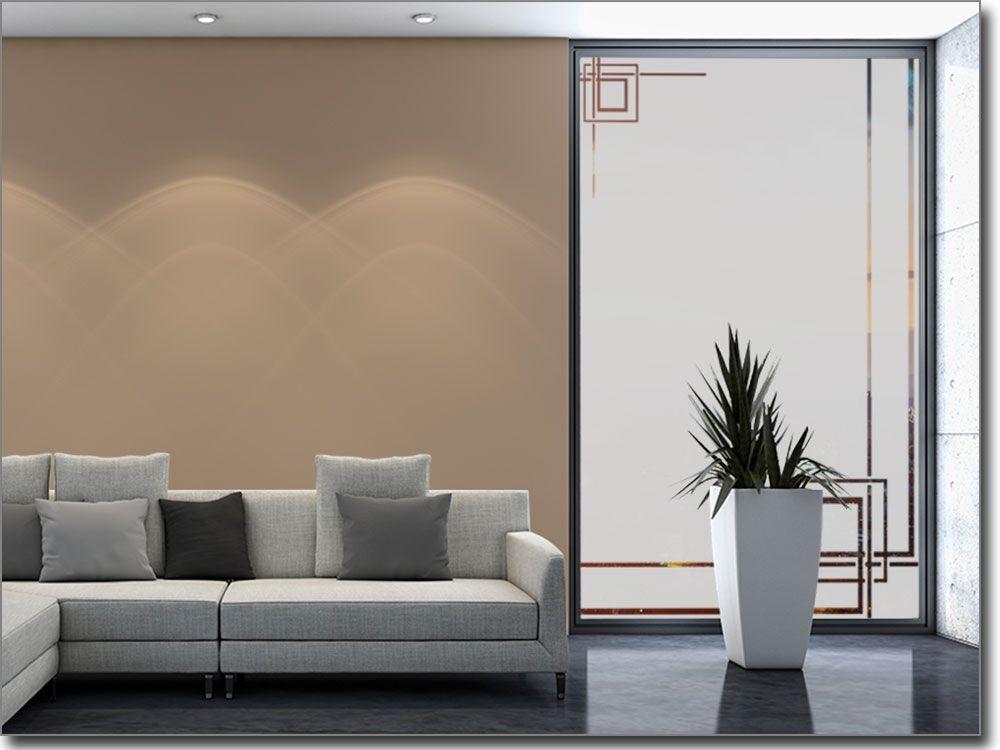 Glasdekorfolie Modern Art Déco - folie für badezimmerfenster