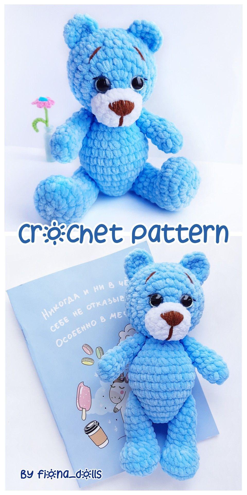 CROCHET PATTERN bear toy - Amigurumi pattern teddy bear - crocheted toy Pattern in English - Crochet #beartoy