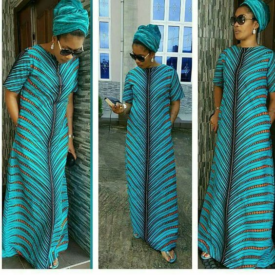 A Shape Ankara Long Gowns With Side Pockets Reigning Styles Among