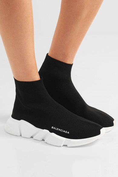 280a427a3 BALENCIAGA Speed stretch-knit high-top sneakers | Fashion! in 2019 ...
