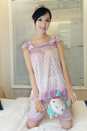 Lovely Women Bowknot Decorate Square Neck Nightwear  on BuyTrends.com, only price $7.63