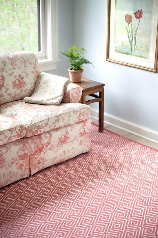 Diamond Coral/White Indoor/Outdoor Rug | Indoor outdoor rugs ...