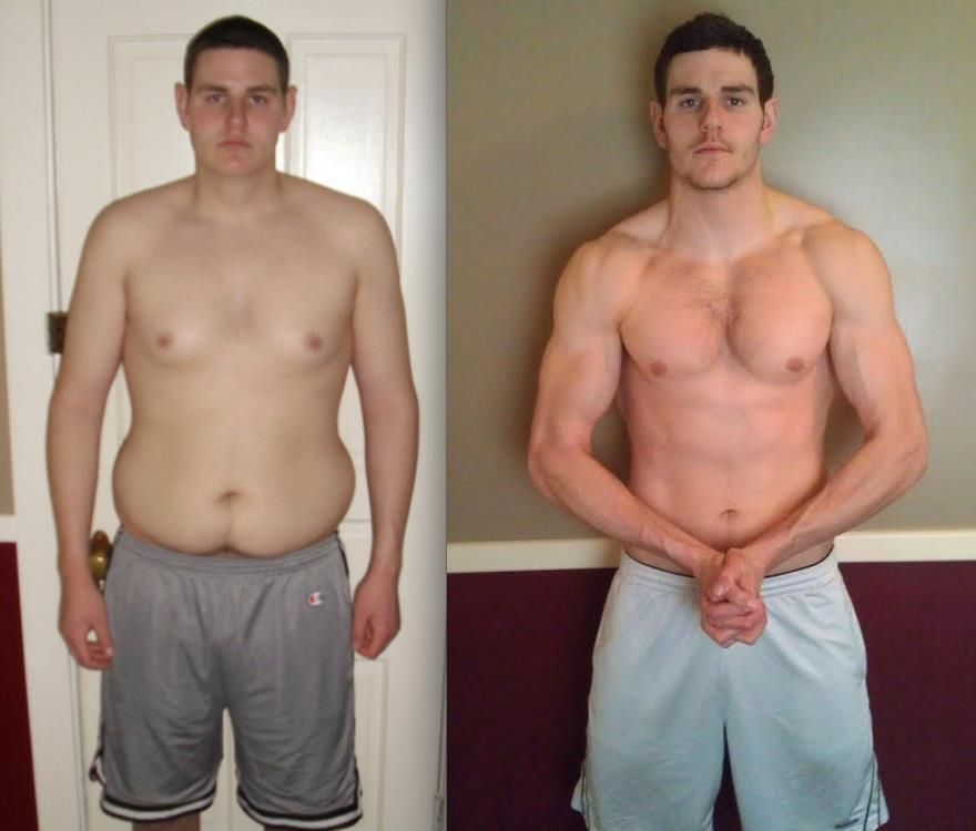 Body transformation with lots of hard work