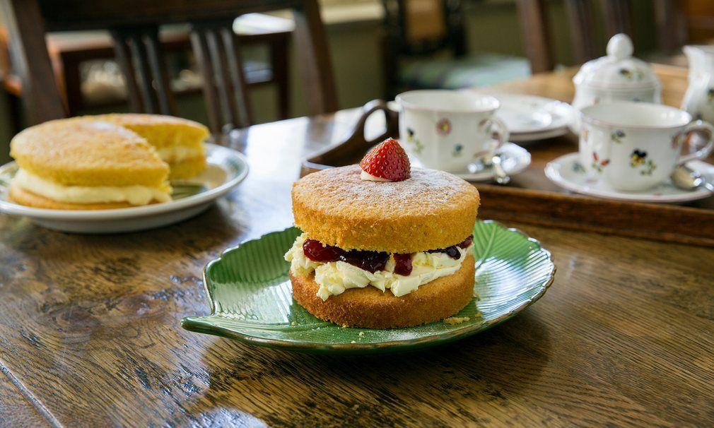 Homemade cake at Hay Barton B&B