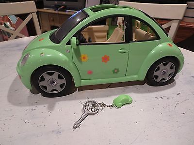 2000 Barbie Vw Volkswagen Beetle Bug Rare Lime Green Car With Key And Chain Ebay