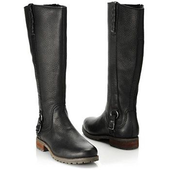 Ariat® Leather Braid & Buckle Detailed Side Zip Tall Riding Boots