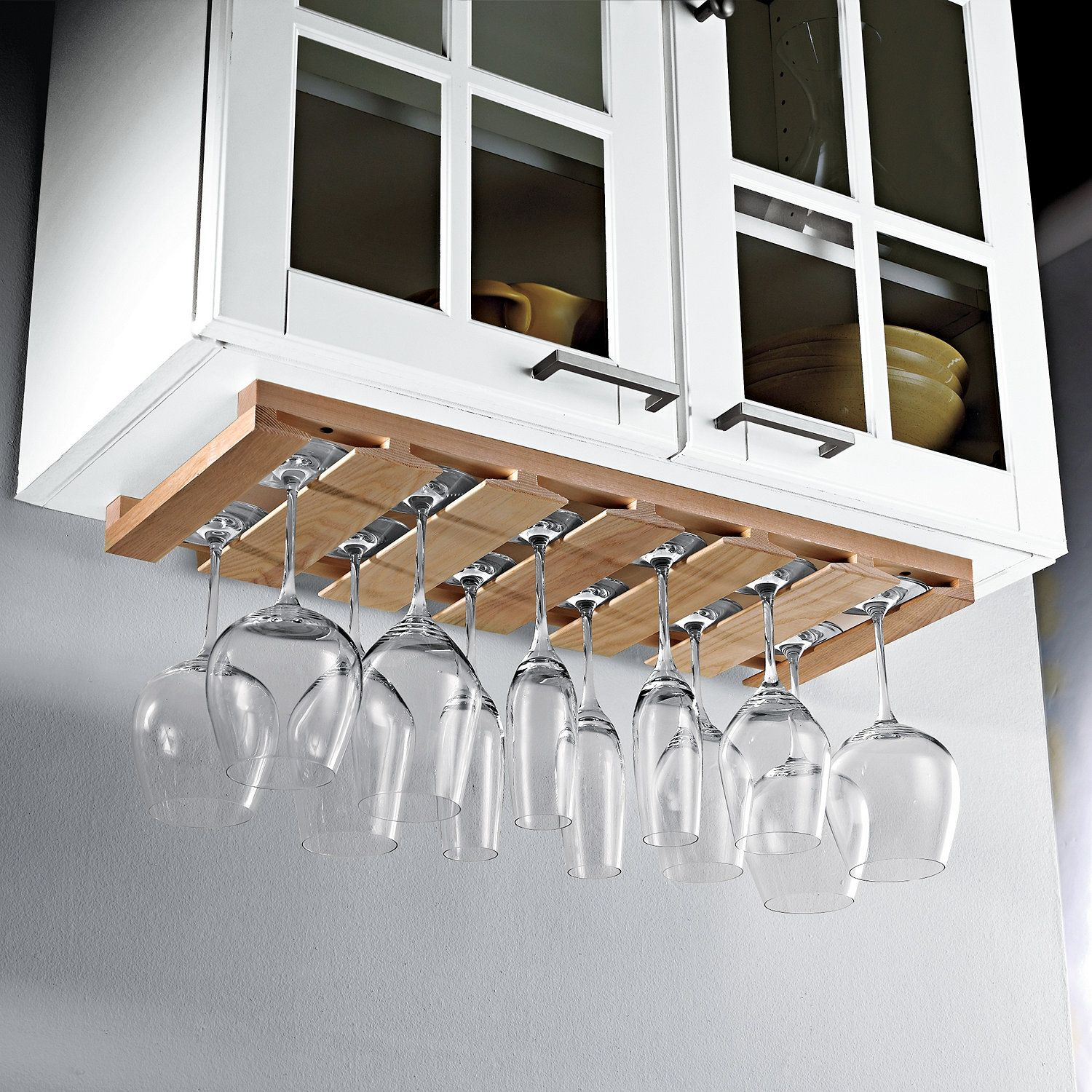 Wooden Hanging Stemware Rack In 2019