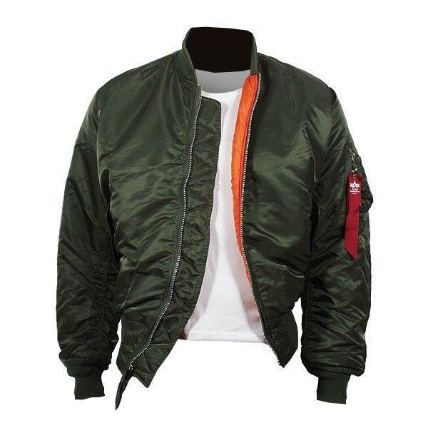 premium selection 12796 f007a ALPHA Industries MA-1 Jacke sage-green Pilotenjacke ...