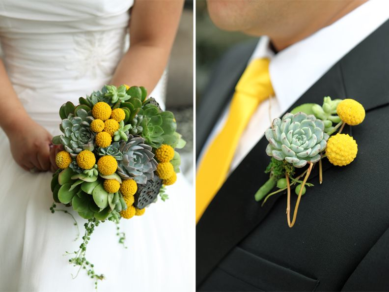 Yellow & Green wedding theme