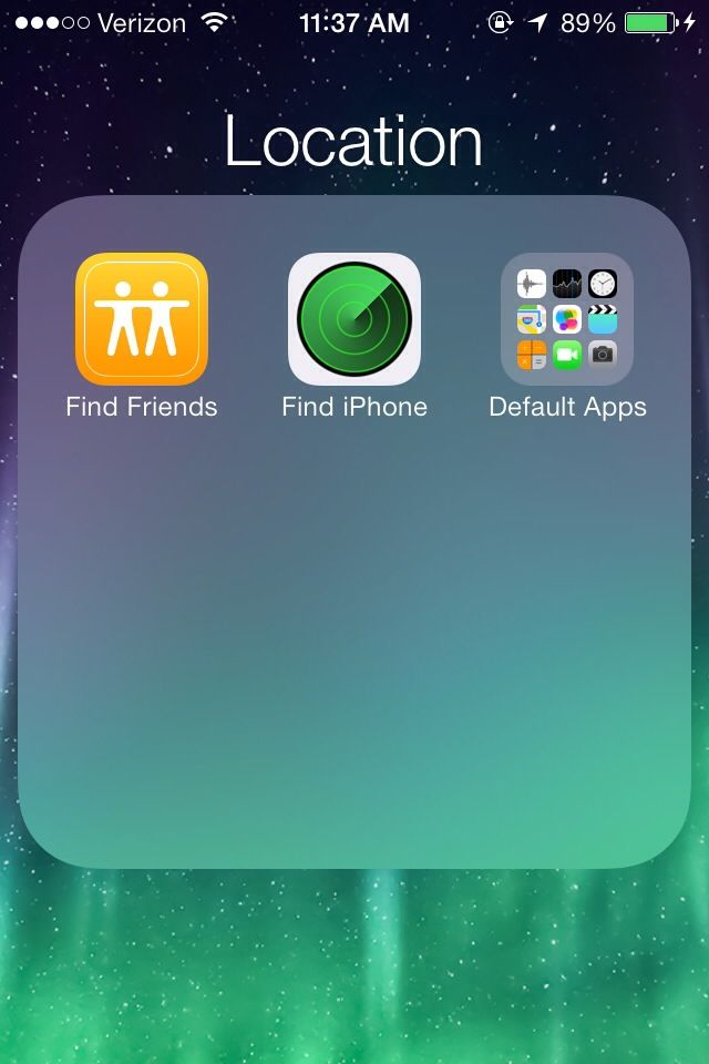 How to Hide Default Apps/Folder Within Folder on iOS7