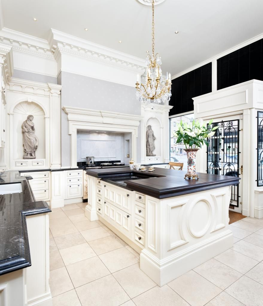 Clive Christian Architectural Kitchen In Antique Ivory Looking Towards Mantle Clive Christian
